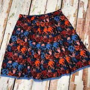 J. Crew | Floral knee length skater skirt